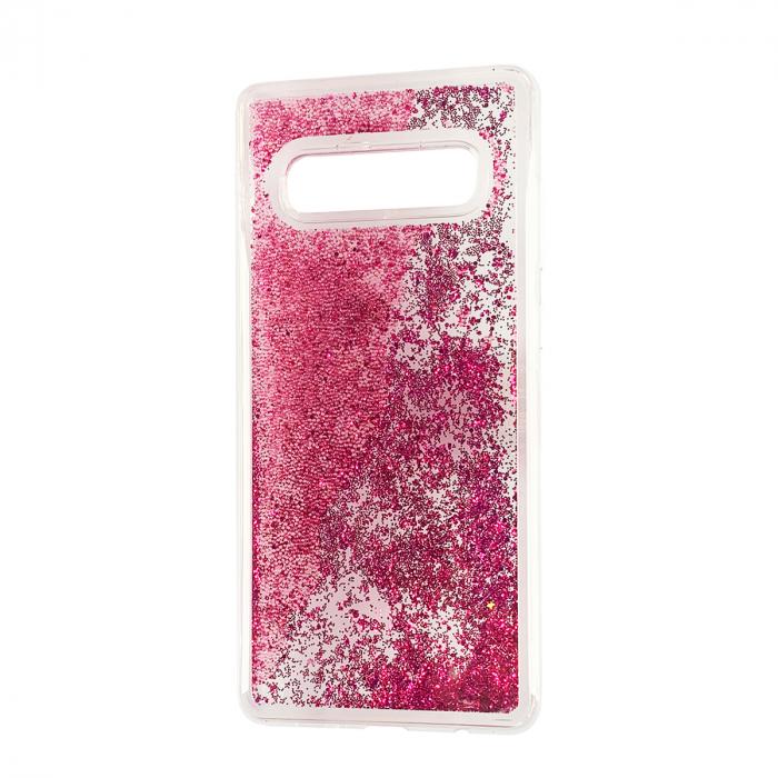 Husa silicon lichid-sclipici Samsung S10 plus - Roz [0]