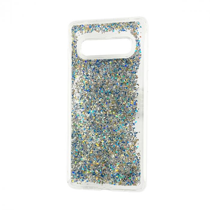 Husa silicon lichid-sclipici Samsung S10 plus - Silver 0