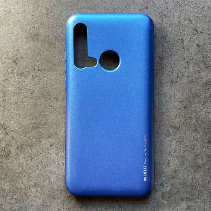 Husa silicon metal I-Jelly Huawei P20 Lite 2019, Albastru 0