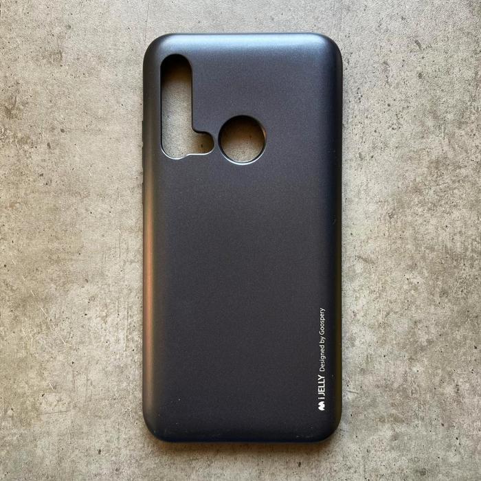 Husa silicon metal I-Jelly Huawei P20 Lite 2019, Negru [0]