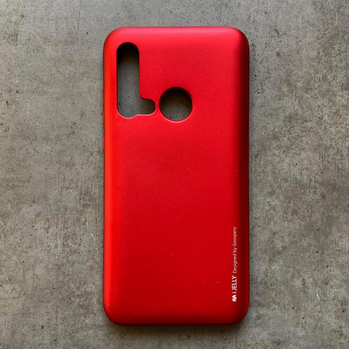 Husa silicon metal I-Jelly Huawei P20 Lite 2019, Rosu 0
