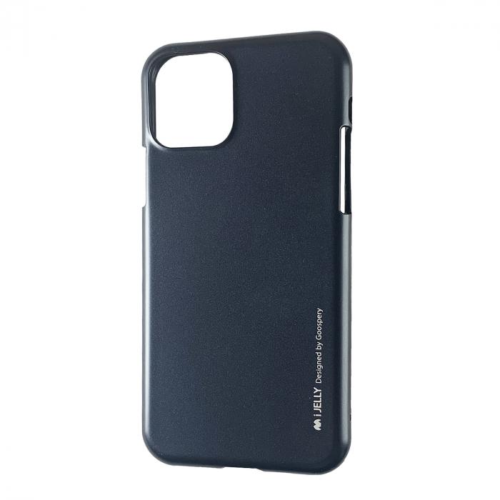 Husa silicon Goospery metal I-Jelly Iphone 11 Pro Max, Negru 0