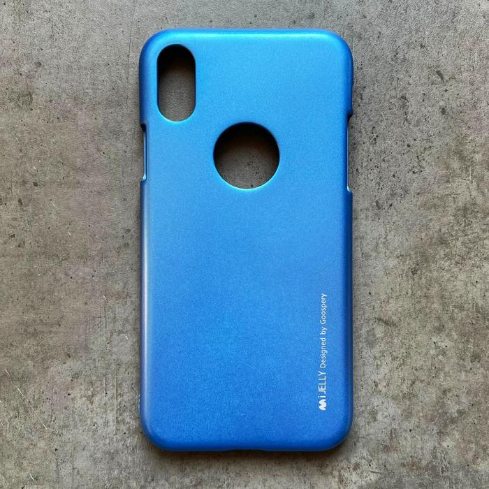Husa silicon metal I-Jelly Iphone Xr - Albastru 0