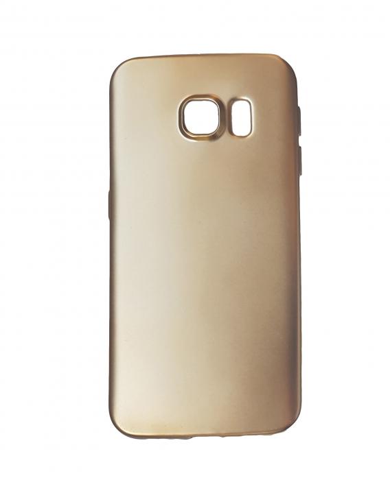 Husa silicon metalizat Samsung S6 - Gold 0