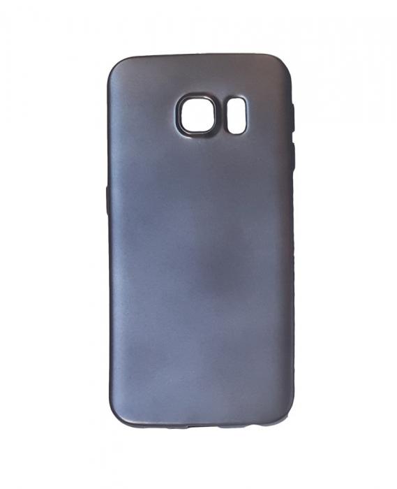 Husa silicon metalizat Samsung S6 - Negru [0]