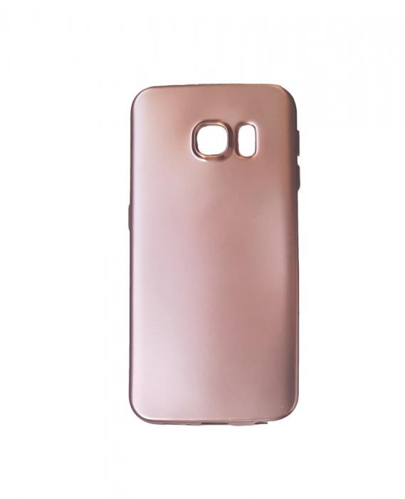 Husa silicon metalizat Samsung S6 -Rose [0]