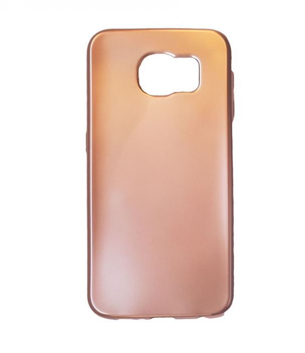 Husa silicon metalizat Samsung S6 Edge - Negru [1]