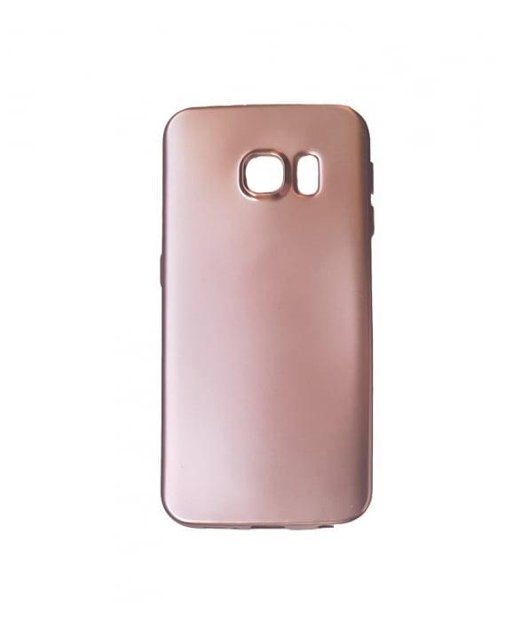 Husa silicon metalizat Samsung S7 Edge -Silver [2]