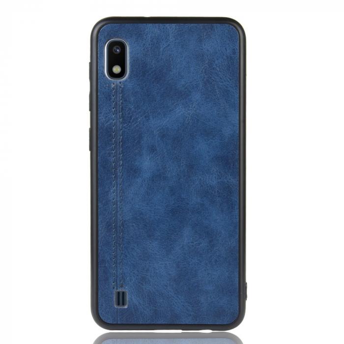 Husa silicon model piele Samsung A10 - Albastru 0