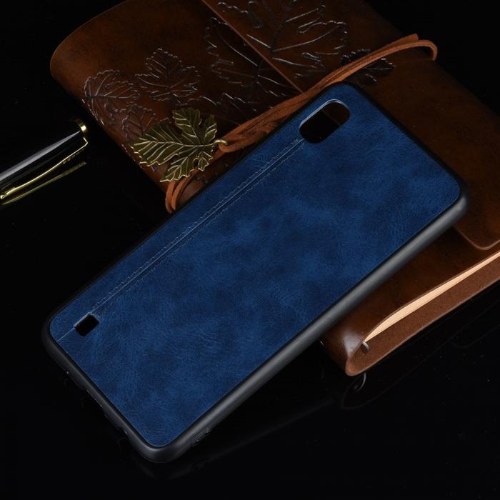Husa silicon model piele Samsung A10 - Albastru 1