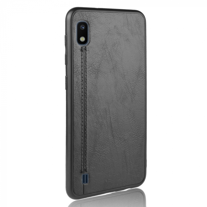 Husa silicon model piele Samsung A10 - Negru 0