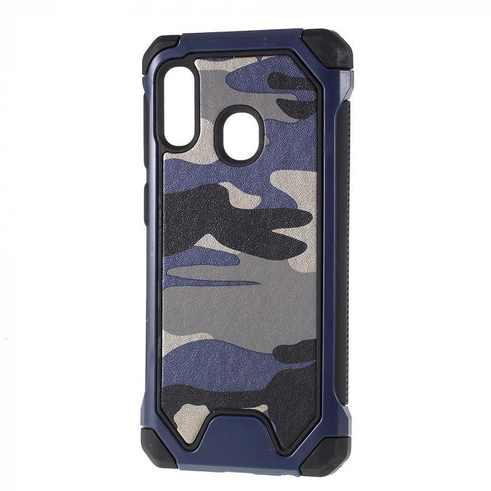 Husa army model camuflaj Samsung A20e - Albastru 0