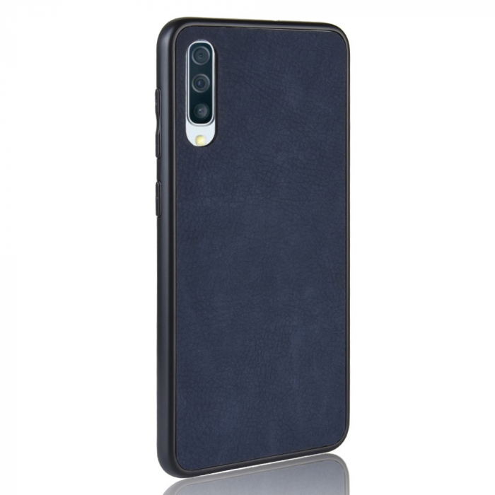 Husa silicon piele Samsung A50 - Albastru 1