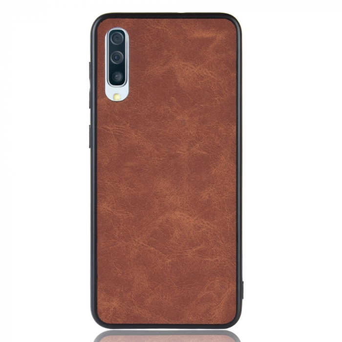 Husa silicon piele Samsung A50 - Maro [1]