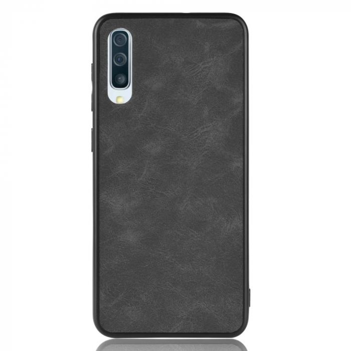 Husa silicon piele Samsung A50 - Negru [1]