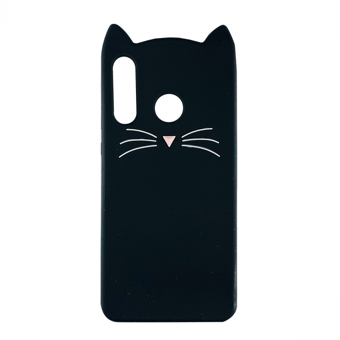 Husa silicon pisica Huawei P30 lite, Negru [0]