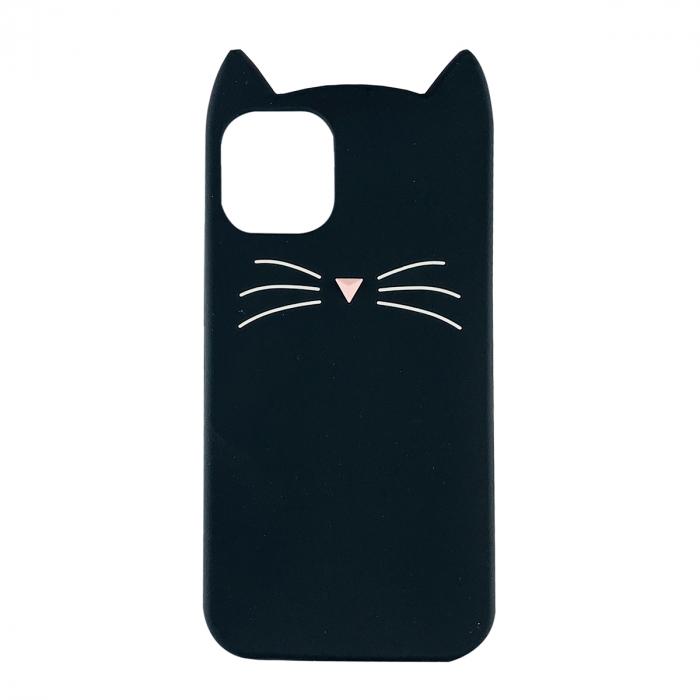 Husa silicon pisica Iphone 11, Negru 0