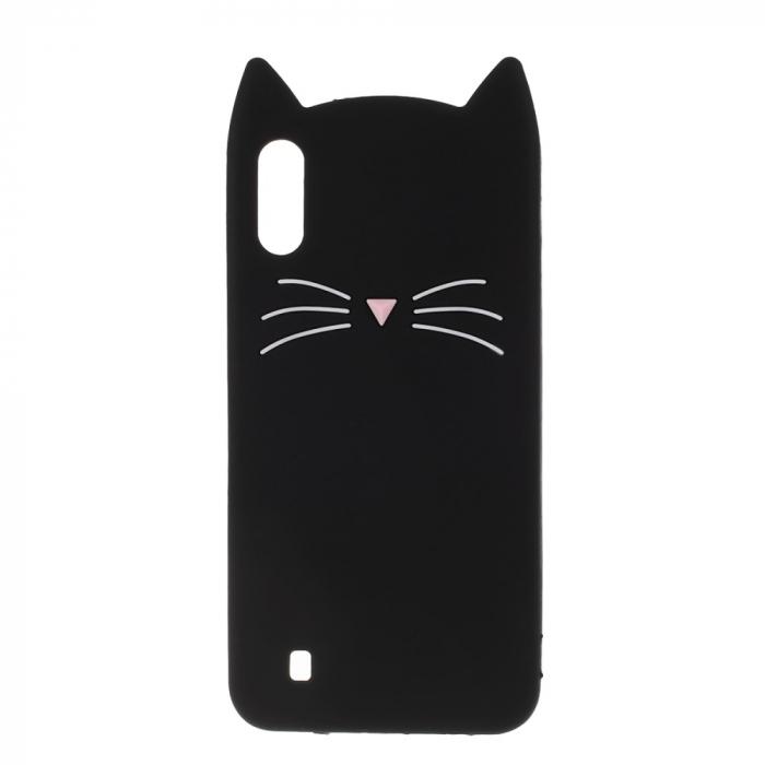Husa silicon pisica Samsung A50 - Negru 0