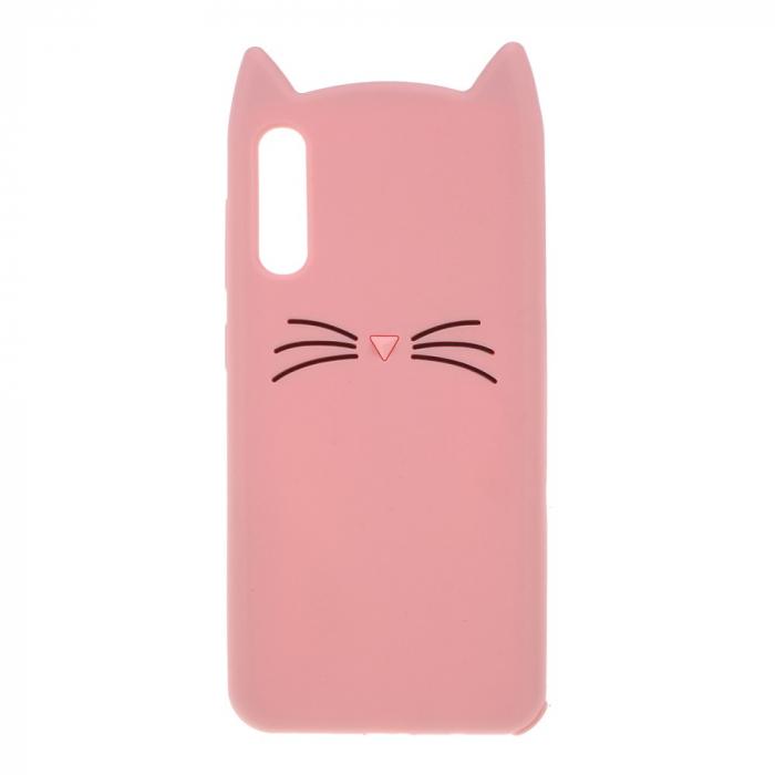 Husa silicon pisica Samsung A70 -Roz 0
