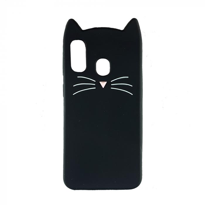 Husa silicon pisica Samsung A40 - 2 culori 0