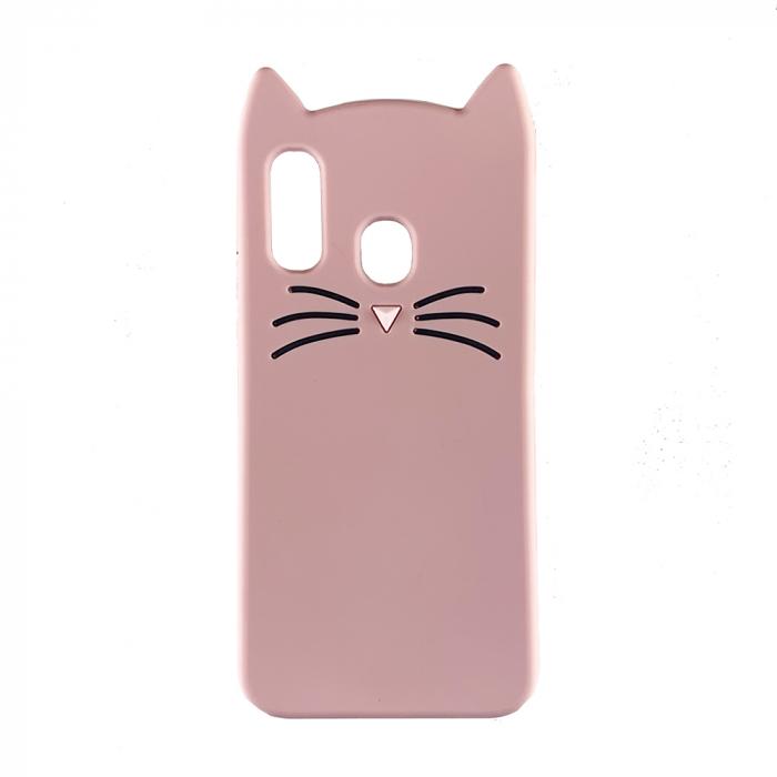 Husa silicon pisica Samsung A40 - Roz 0