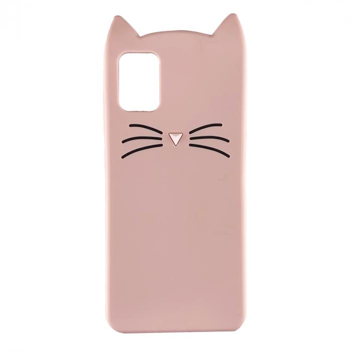 Husa silicon pisica Samsung A51 - Roz 0