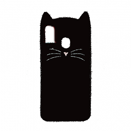 Husa silicon pisica Samsung A51 - Negru [0]