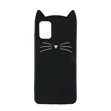 Husa silicon pisica Samsung A71 - Negru [0]
