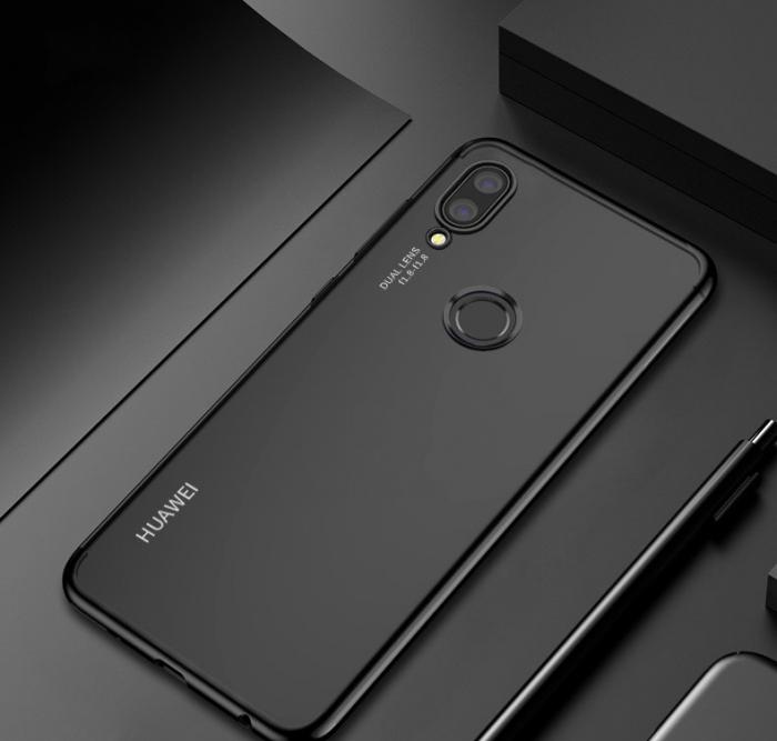 Husa silicon placat margini Huawei P20 Lite 2019 - Negru [0]