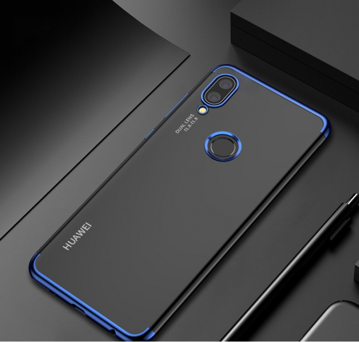 Husa silicon placat margini Huawei P20 Lite 2019 - Albastru [0]