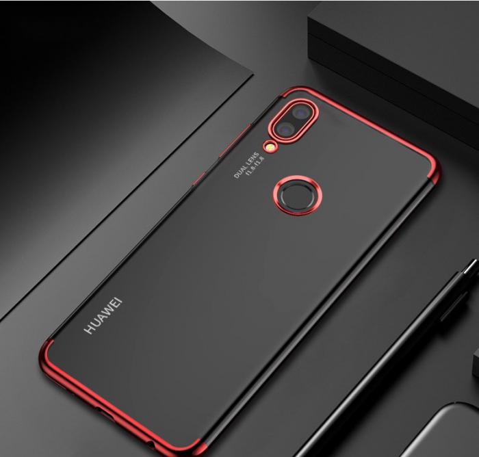 Husa silicon placat margini Huawei P20 Lite 2019 - Rosu [0]