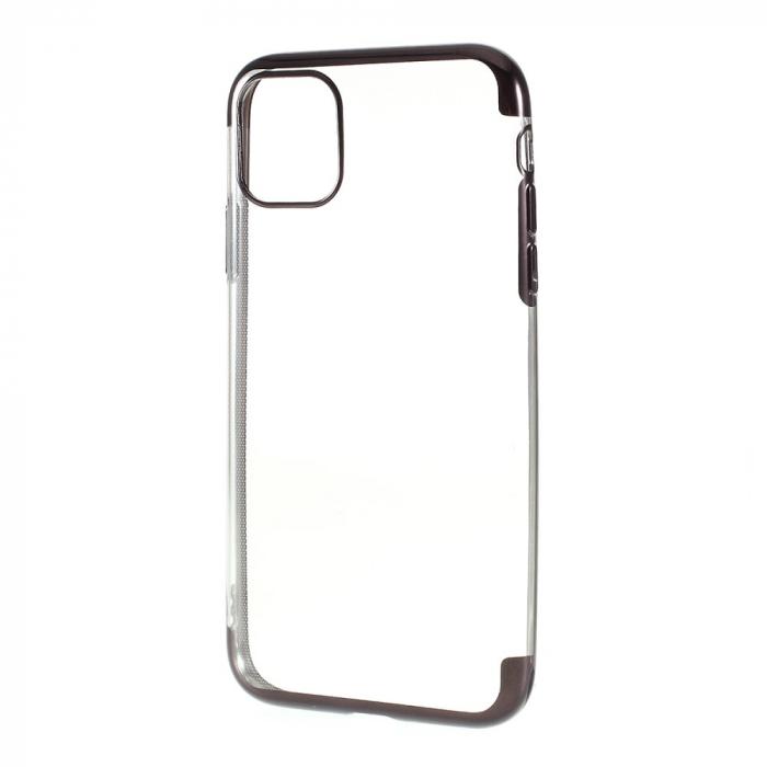 Husa silicon placat margini Iphone 11 Pro - Negru [0]