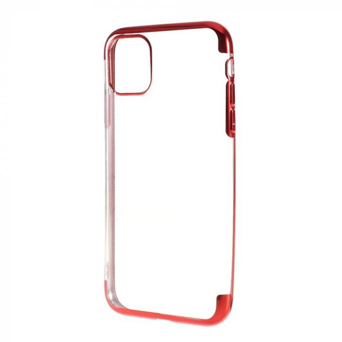 Husa silicon placat margini Iphone 11 Pro - Rosu [0]