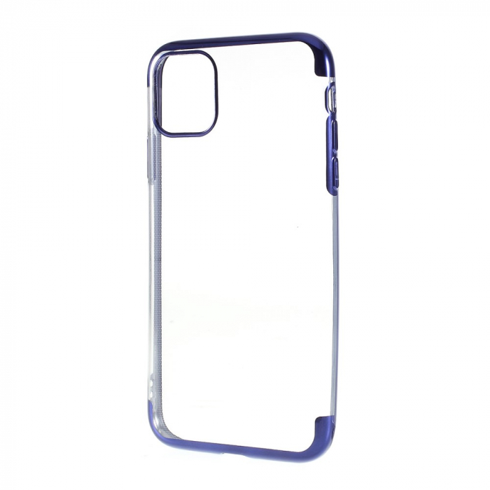 Husa silicon placat margini Iphone 11 Pro - Albastru 0