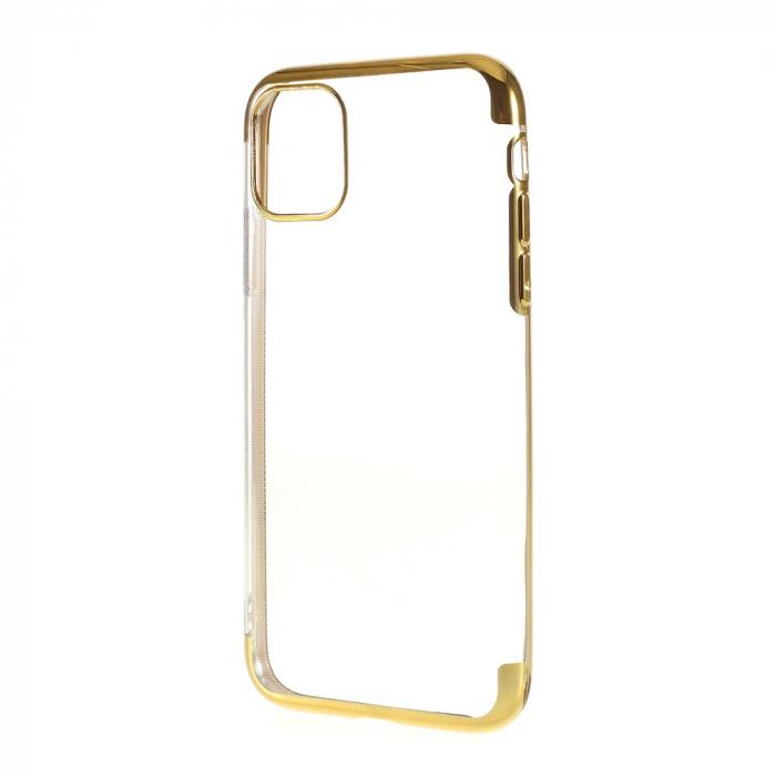 Husa silicon placat margini Iphone 11 Pro -Gold 0