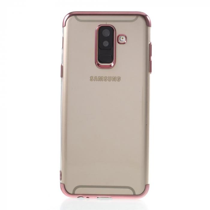 Husa silicon placat sus-jos Samsung A6 (2018) -Rose [0]