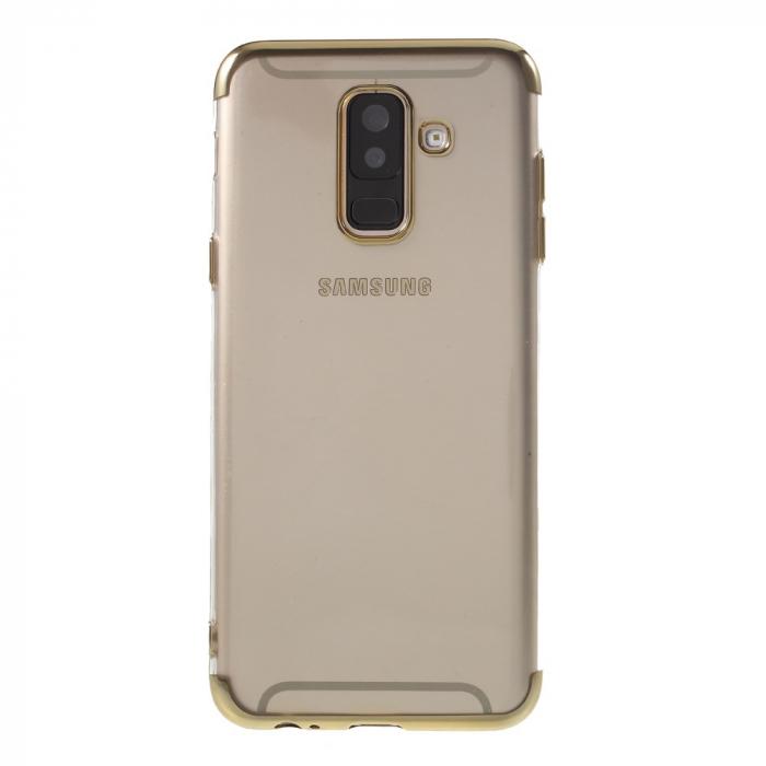 Husa silicon placat sus-jos Samsung A6 plus (2018) - 2 culori 0