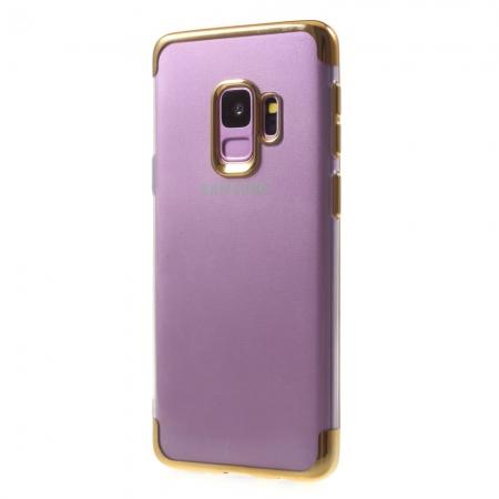 Husa silicon placat sus-jos Samsung S9 - Gold 0