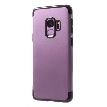 Husa silicon placat sus-jos Samsung S9 - Negru 0