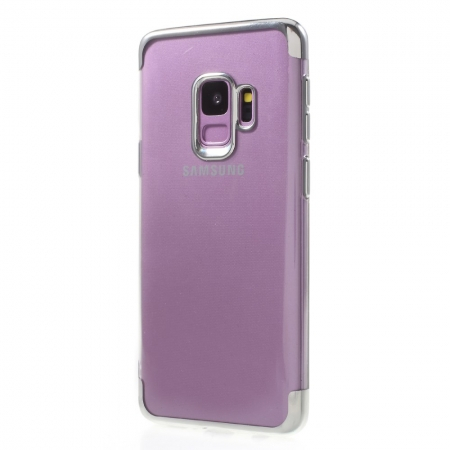 Husa silicon placat sus-jos Samsung S9 - Silver [0]