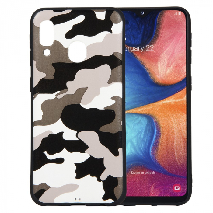 Husa silicon army Samsung A20e - Alb 0
