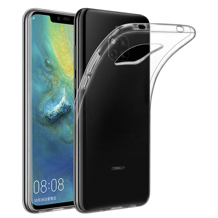 Husa silicon slim Huawei Mate 20 Pro - transparenta 0