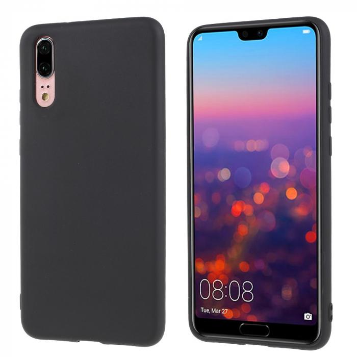 Husa silicon slim mat Huawei P20 Pro - Negru 0