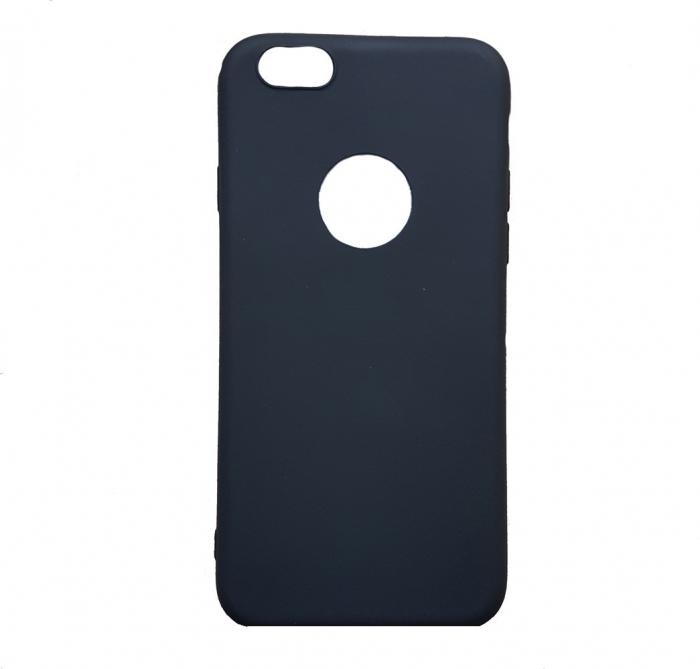 Husa silicon slim mat Iphone 8 plus - Negru [0]