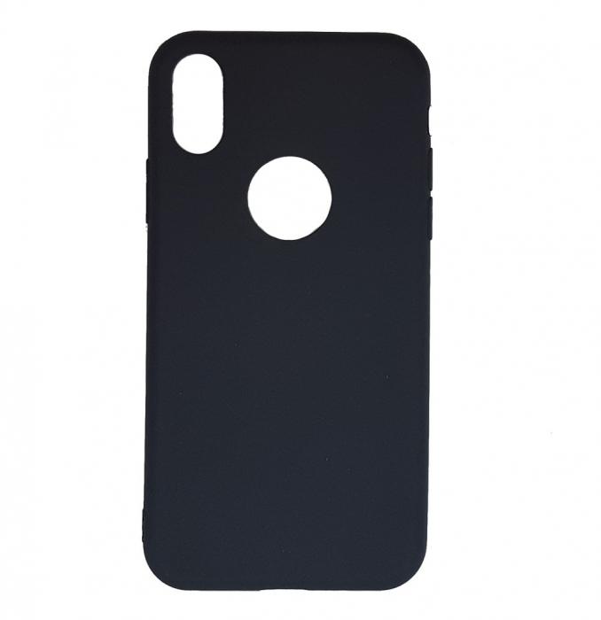 Husa silicon slim mat Iphone Xs Max - Negru 0