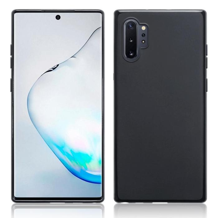 Husa silicon slim mat Samsung Note 10 - negru 0