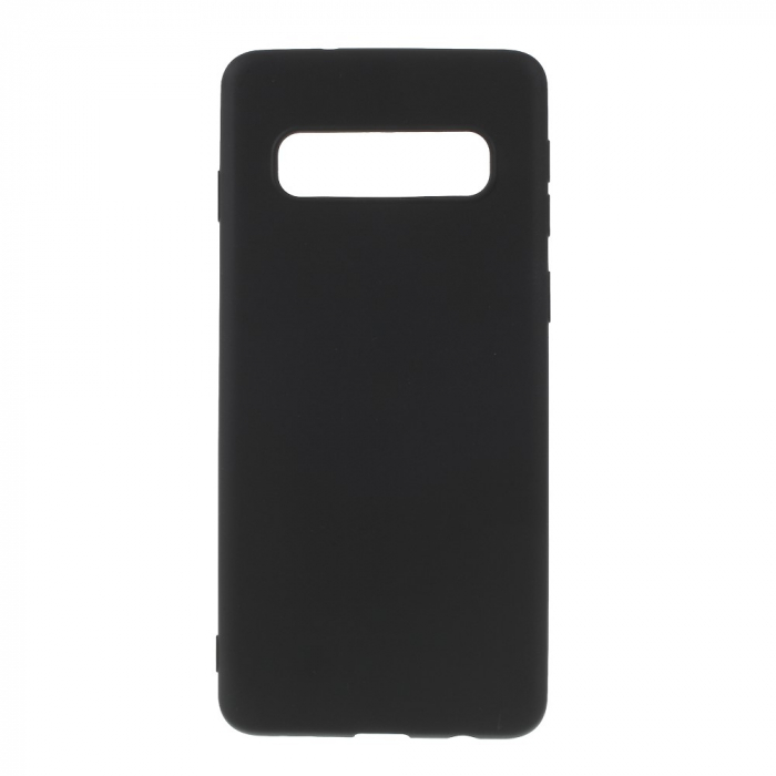 Husa silicon slim mat Samsung S10 Plus - Negru 0