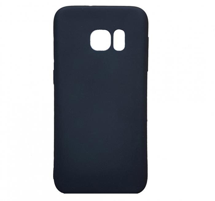 Husa silicon slim mat Samsung S7 Edge - Negru [0]
