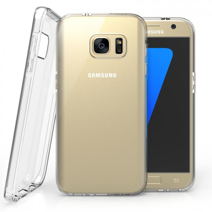 Husa silicon slim Samsung S7 Edge - transparenta 0