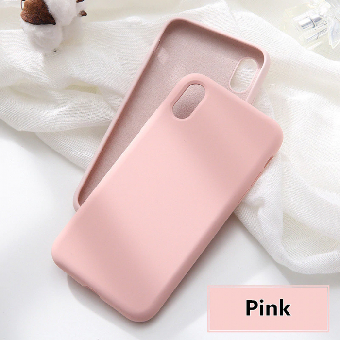 Husa silicon soft mat Iphone 6/6s - Rose 0
